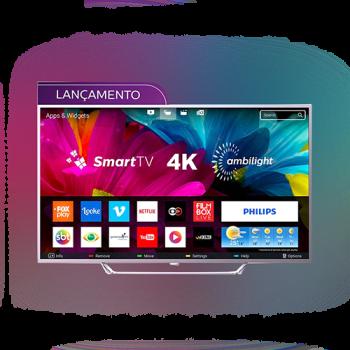"Smart TV LED 65"" UHD 4K Philips 65PUG6412/78 Ambilight 4 HDMI 2 USB 60Hz"