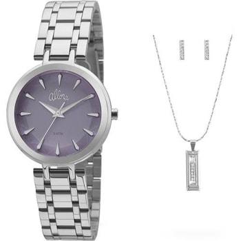 a9943a89bf8 Relógio Feminino Allora Analógico Fashion com Colar e Brinco Al2036flm k3a