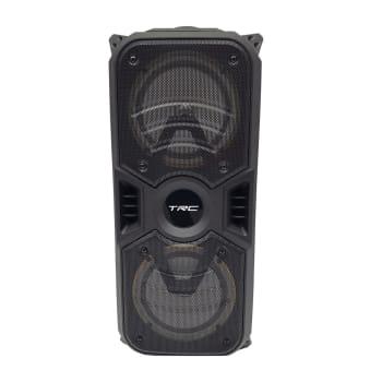 Caixa de Som Amplificada TRC 334 Bluetooth, USB, Entrada para Microfone, Rádio FM e Iluminação 150W