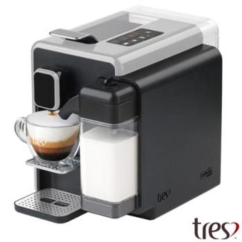 Cafeteira Três Corações Barista Prata para Café Espresso