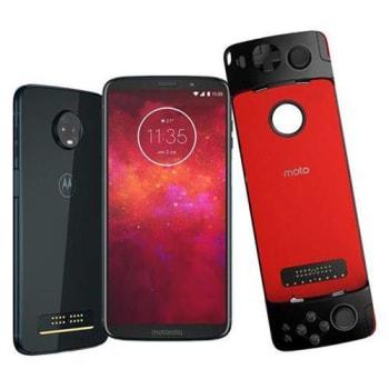Smartphone Motorola Moto Z3 Play Gamepad Índigo 64gb, Tela 6 Pol, Dual Chip, Câmera Traseira Dupla,