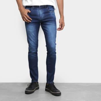 Calça Jeans TBT Jeans Used Estonada Masculina - Azul