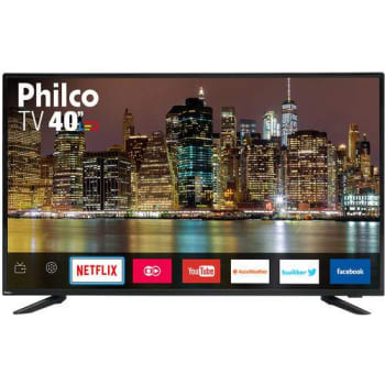 "SMART TV LED 40"" Philco PTV40E60SN Full HD Conversor Digital Wi-Fi 2 USB 2 HDMI Netflix"