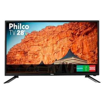 TV LED 28 Philco PH28N91D HD com Conversor Digital USB HDMI Preta