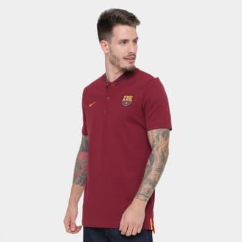 2de47e729a6be Camiseta Barcelona Nike NSW Modern Masculina em Promoção no Oferta ...