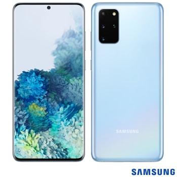 """Samsung Galaxy S20+ Azul, com Tela Infinita de 6.7"""", 4G, 128GB e Câmera Quádrupla 64MP+12MP+12MP+ToF - SM-G985FLBJZTO"""