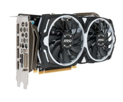 Placa de Video Msi Radeon RX 570 4GB GDDR5 Armor OC 256-Bit - 912-V341-297