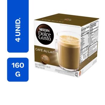 Café com Leite Nescafé Dolce Gusto 16 Cápsulas - 4 Unidades