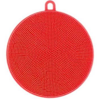Esponja De Silicone Antibacteriana Flexível Cor Vermelha