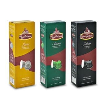 Kit 100 Cápsulas de Café Roccaporena Compatível Com Nespresso - 10 Caixas Sortidas