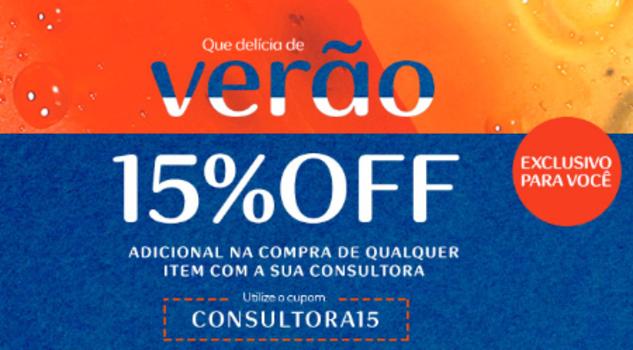 a5cb9a3d99 Verão Natura - Produtos com até 70%OFF + 15% de desconto no cupom ...