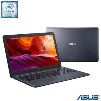 Notebook Asus Laptop Core I5 6200U, 8GB, 1TB, Tela de 15,60'', Intel HD Graphics 520, Cinza Escuro -X543UA-GO3091T