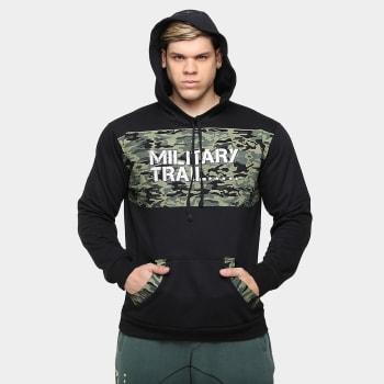 Moletom Hood Masculino Military Trail - Midway USA - Preto