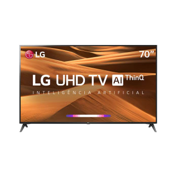 "Smart TV LED 70"" LG UM7370 Ultra HD 4K, HDR Ativo, DTS Virtual X, Inteligência Artificial, ThinQ AI, WebOS 4.5"