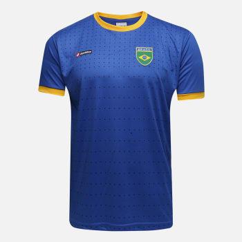 Camisa Brasil 2010 n° 10 Lotto Masculina - Azul e amarelo