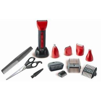Máquina de Cortar Cabelo c/ Acabamento Ga.Ma Gc-616, 16 Peças, Sem Fio, Acessórios para Barba, Cabelo, Sobrancelhas e Rosto e Orelhas, Bivolt