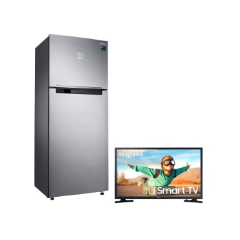 "Geladeira Samsung Frost Free Duplex 2 Portas Inverter RT46K6261S8/AZ + Smart TV LED 32"" Samsung T4300"