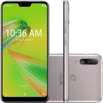 "Smartphone Zenfone Asus Max Shot 64GB Dual Chip Android Oreo Tela 6,2"" Qualcomm QSP SIP1 4G Câmera tripla 12MP+5MP+8M"