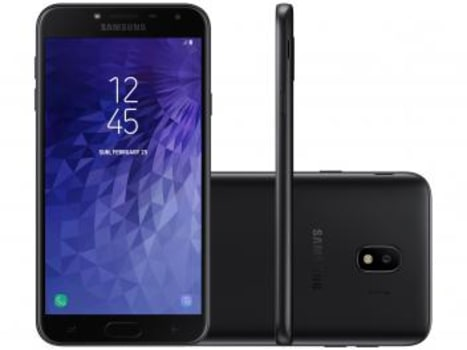 Smartphone Samsung Galaxy J4 16GB Preto - Dual Chip 4G Câm. 13MP + Selfie 5MP Flash - Magazine Ofertaesperta