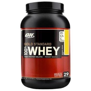 Whey Protein Gold Standard 100% 909G - Morango - Optimum Nutrition