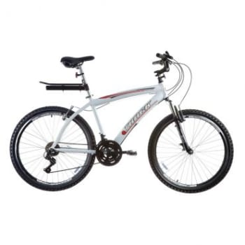 Bicicleta Track Bikes Week 300 Plus Branco, Aro 26, 21 Marchas, Freio V-Brake, Câmbio Shimano, Suspensão dianteira