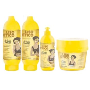 Kit Completo Muriel Maria Banana Liso Ético: Shampoo 300ml + Condicionador 300ml + Máscara 300g + Finalizador 100g