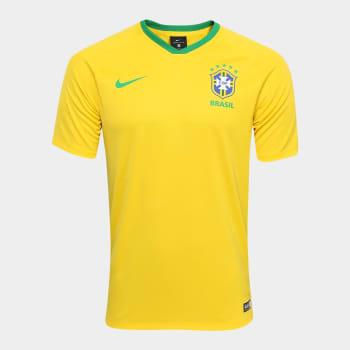 0205b576b2 Camisa Seleção Brasil I 2018 s n° - Torcedor Estádio Nike Masculina -  Amarelo e Verde