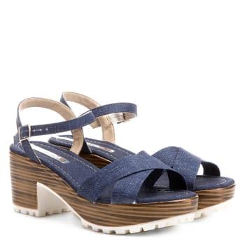 a16968632 Sandália Moleca Meia Pata Tratorada Jeans Feminina - Jeans em ...