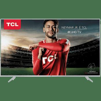 "Smart TV LED 50"" UHD 4K TCL P6US 3 HDMI 2 USB Wi-Fi integrado HDR Conversor Digital"