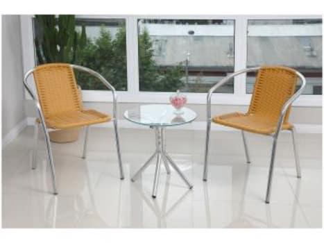 Conjunto de Mesa para Jardim com 2 Cadeiras - Alegro Móveis CJMC12099.0001 - Magazine Ofertaesperta