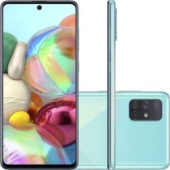 """Smartphone Samsung Galaxy A71 128GB Dual Chip Tela 6.7"""" - Azul"""