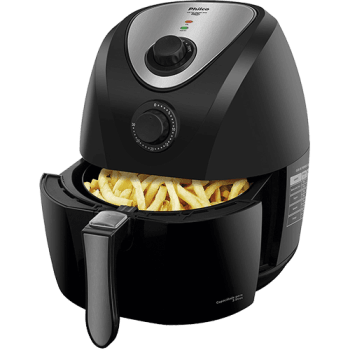 Fritadeira Elétrica Sem Óleo - Air Fryer Philco Saúde Inox PH3L Preta com Timer 127v
