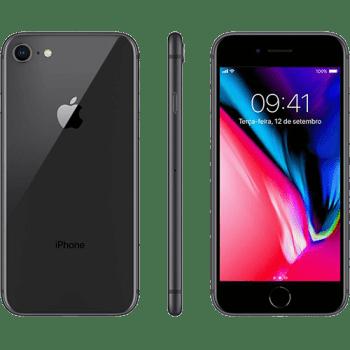 "iPhone 8 64GB Cinza Espacial Tela 4.7"" IOS 4G Câmera 12MP - Apple"