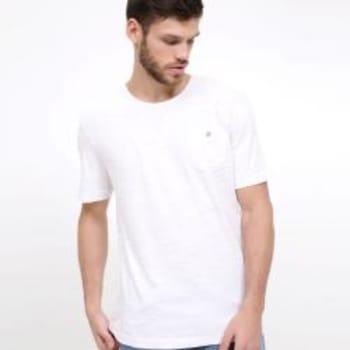 Camiseta Estampada com Bolso