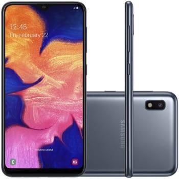 "Smartphone Samsung Galaxy A10 32GB 6.2"" 2GB RAM Câmera Traseira 13MP Preto"