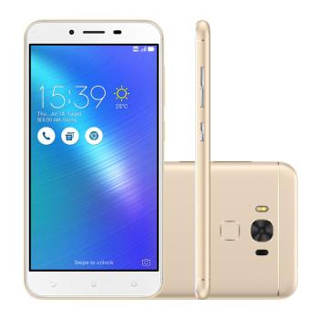 """Smartphone Asus Zenfone 3 Max ZC553KL-4G090BR 32GB Dourado 4G Tela 5.5"""" Câmera 16MP Android 6.0"""