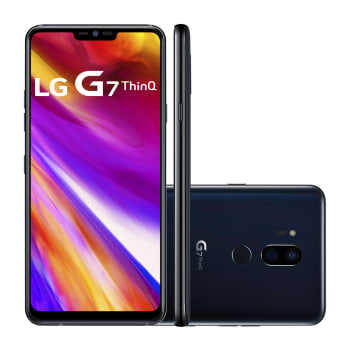 "Smartphone LG G7 ThinQ LMG710EMW 64GB Preto 4G Tela 6.1"" Câmera 16MP Android 8.0 com Inteligência Artificial"