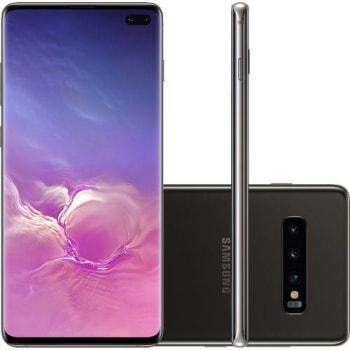 """Smartphone Samsung Galaxy S10 Plus 1TB Dual Chip Android 9.0 Tela 6,4"""" Octa-Core 4G Câmera Tripla Traseira 12MP + 12MP + 16MP - Ceramic Preto"""