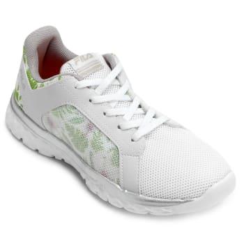 Tênis Fila Lightstep Comfort 2.0 Feminino - Branco e prata
