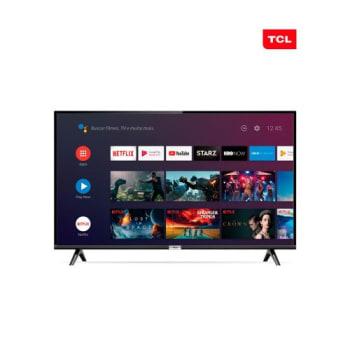 Smart TV LED 32 Polegadas Android TCL 32s6500 HD Conversor Digital Wi-Fi Bluetooth 1 USB 2 HDMI Controle Remoto com Comando de Voz