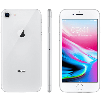"iPhone 8 64GB Prata Tela 4.7"" IOS 4G Câmera 12MP - Apple"