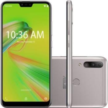 "Smartphone Zenfone Asus Max Shot 64GB Dual Chip Android Oreo Tela 6,2"" Qualcomm QSP SIP1 4G Câmera tripla 12MP+5MP+8MP - Prata"