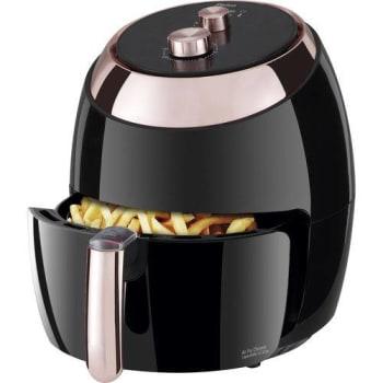 Fritadeira Elétrica Sem Óleo - Air Fryer Philco Chrome 5,5 Litros Preta com Timer 127V