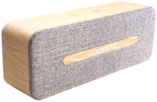 Caixa de Som Bluetooth 6W RMS GT SoundSync Madeira   Goldentec
