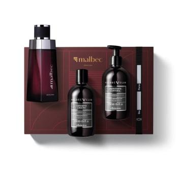 Kit Presente Malbec: Desodorante Colônia 100ml + Loção Corporal 250ml + Sabonete Líquido Corporal 250ml - O Boticário