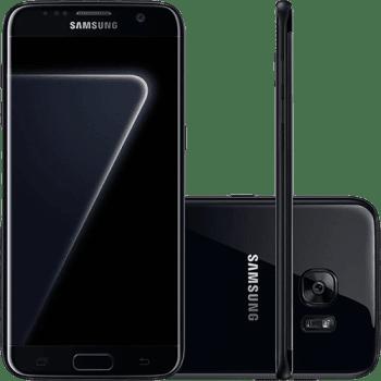 "Smartphone Samsung Galaxy S7 Edge Android 6.0 Tela 5.5"" 128GB 4G Câmera 12MP - Black Piano"