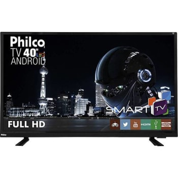 "Smart TV LED 40"" Philco Ph40e60dsgwa Full HD com Conversor Digital 2 HDMI 2 USB Wi-Fi"