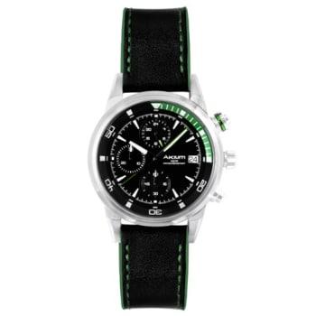 Relógio Akium Masculino Couro Preto - G6345N1-S/S-STRAP