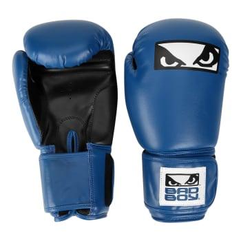 Luva de Boxe/Muay Thai Bad Boy com Logo - Azul e Preto