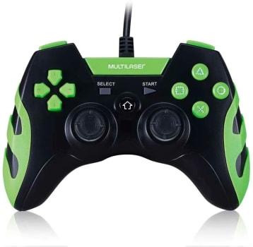 Controle Gamer PS3/PC Preto/Verde JS091